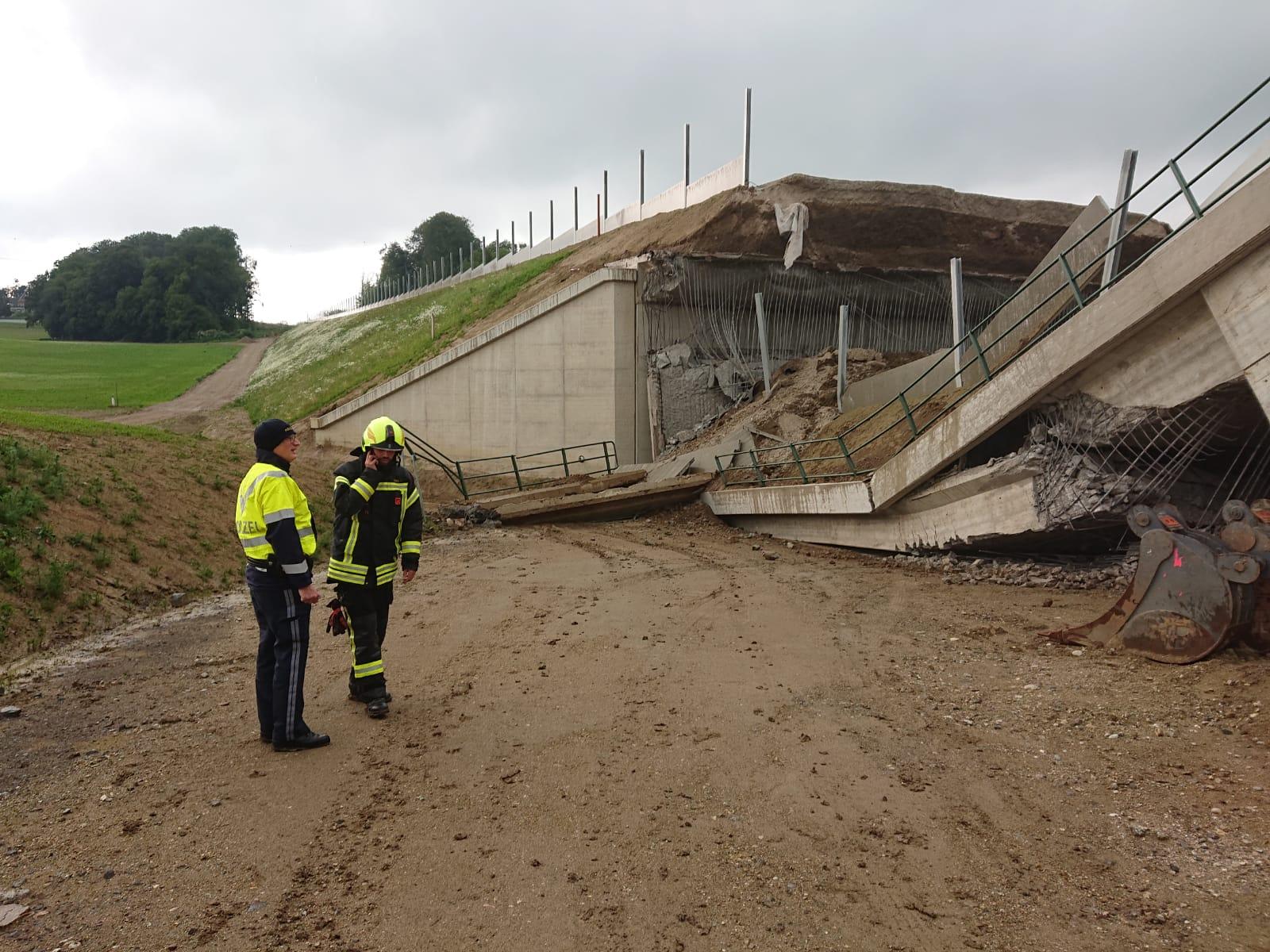 Brückeneinsturz in Petzenkirchen