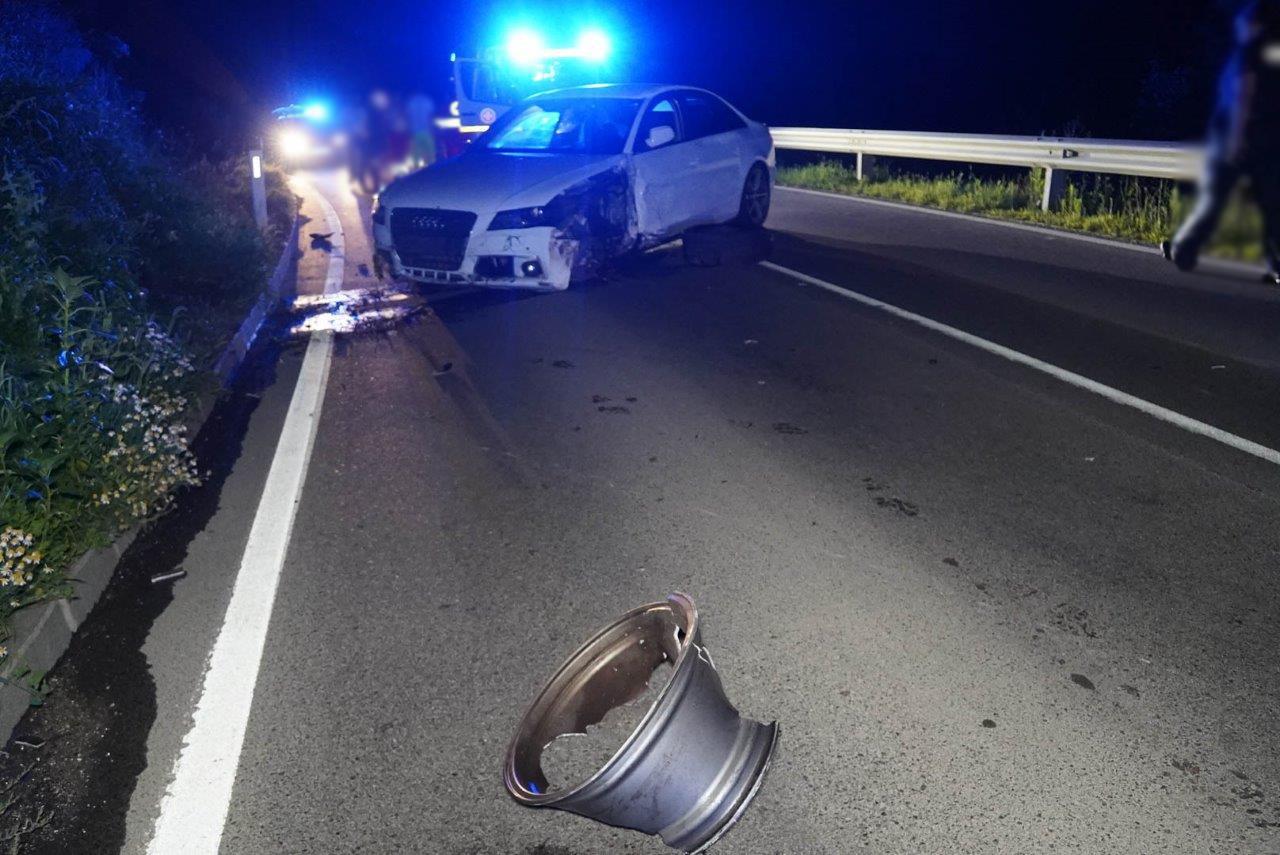 Verkehrsunfall in der Annenheimkurve