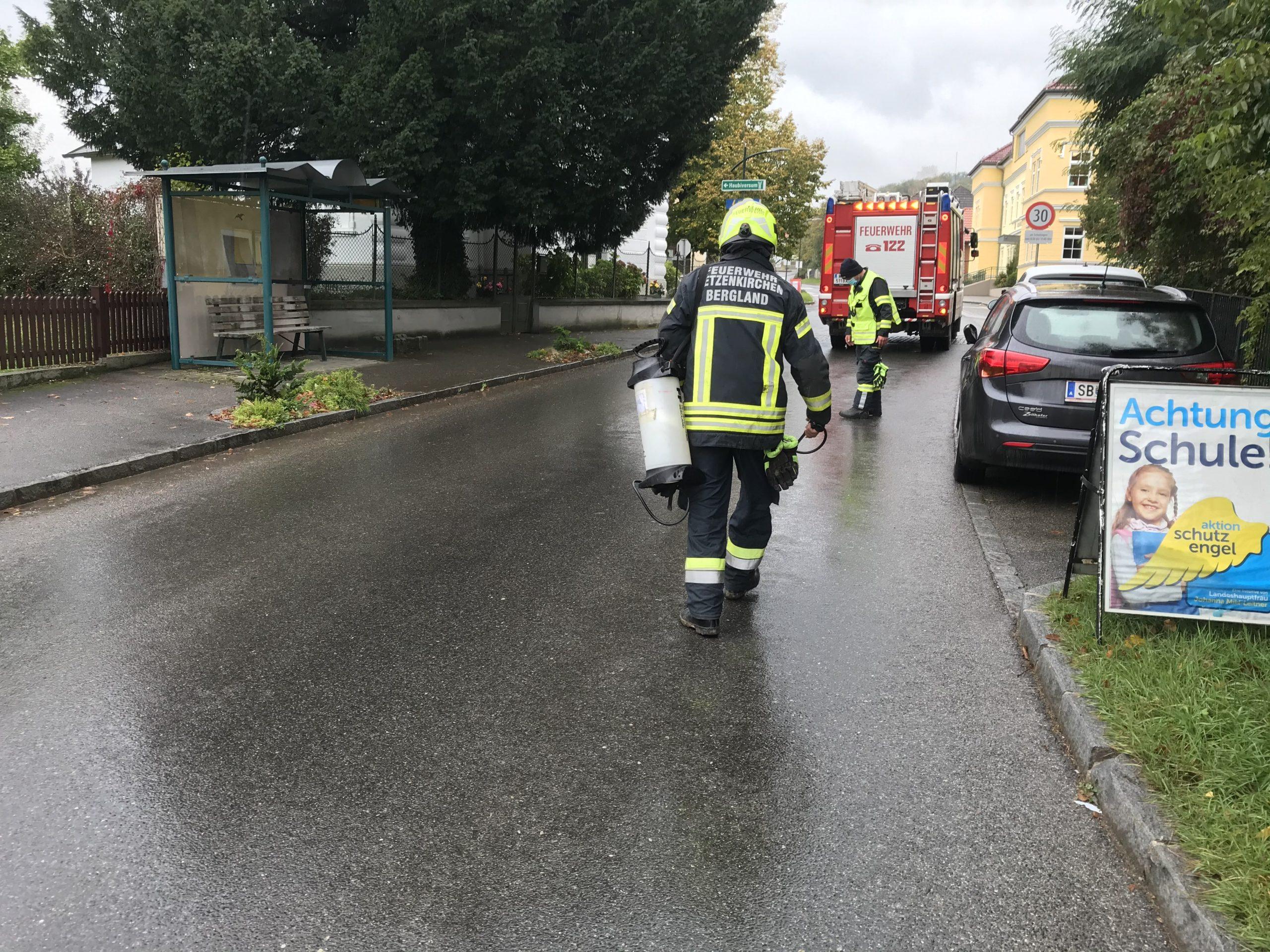 Ölspur in Petzenkirchen