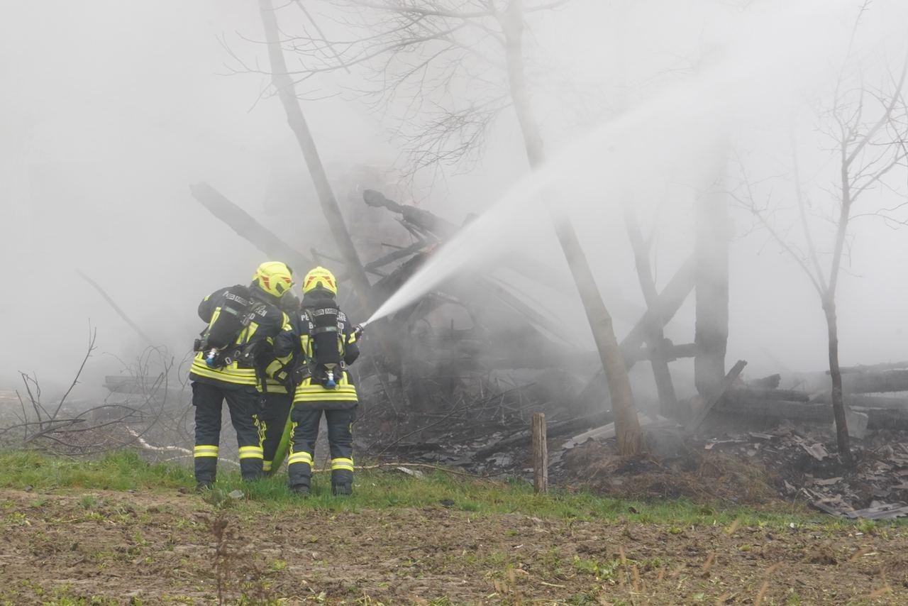 Schuppenbrand in Wieselburg-Land