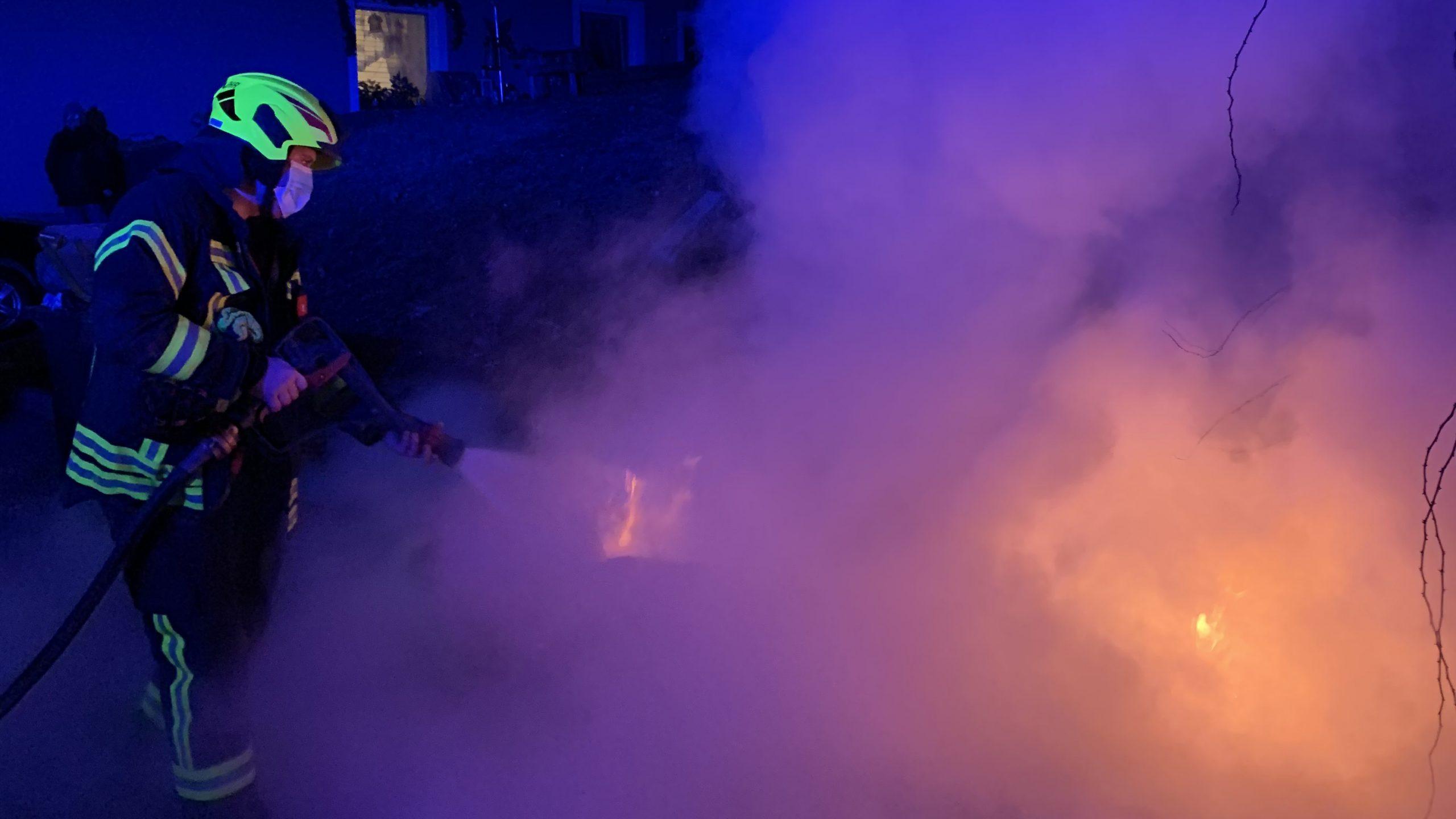 Müllbehälterbrand zu Silvester