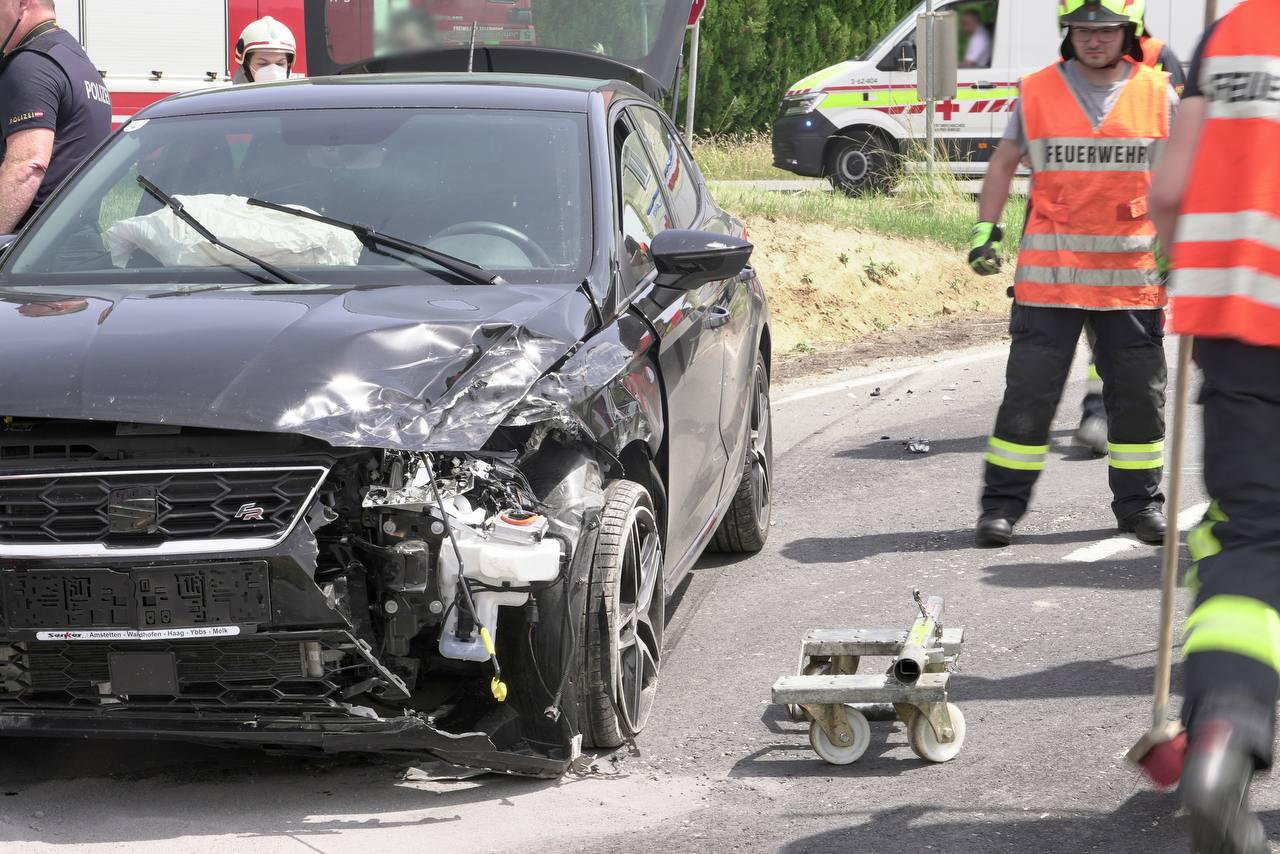Verkehrsunfall in Preßbach