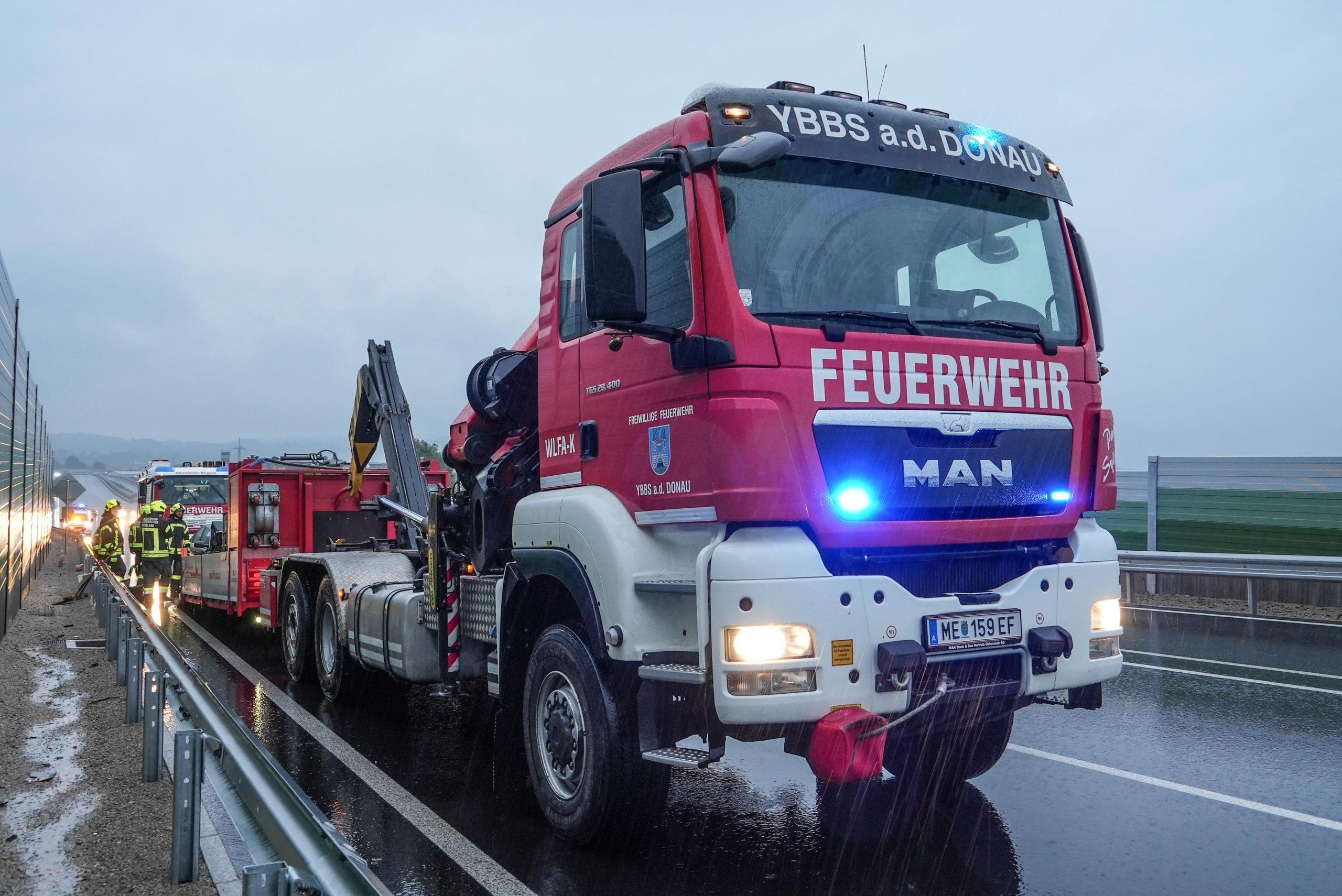 Fahrzeugbergung B25 Umfahrung Wieselburg